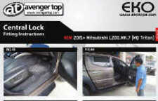 Central Lock Fitting Instructions for Mitsubishi L200 MK9 Series 5