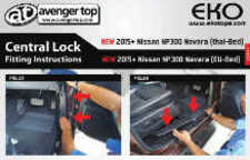 Central Lock Fitting Instructions for Nissan Navara NP300