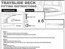 Trayslide Deck Fitting instructions