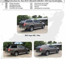 Fitting instructions for New 2015 Mitsubishi L200 MK7 EKO Tops Double-Cab