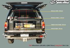 Mitsubishi L200 MK6 Long Bed Measurements