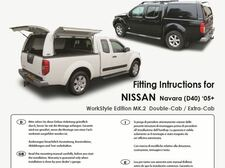 Fitting instruction for Navara D40 (05-ON )WorkStyle Edition MK2 Double-Cab/Extra-Cab