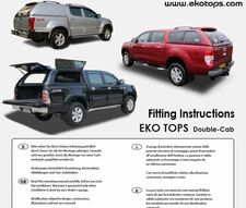 Fitting instruction for SsangYong for the EKO Tops Fitting