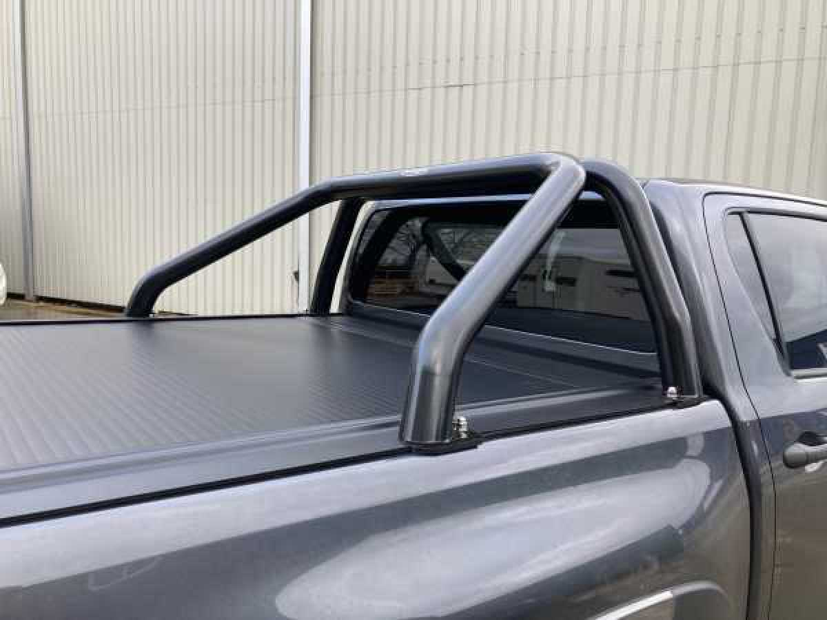photo for Ford Ranger MK5 (2012-2016) Black Single Hoop Roll Bar 76mm Stainless Steel
