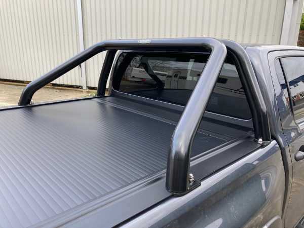Toyota Hilux MK11 / Rocco ( 2020-ON) Black Single Hoop Roll Bar 76mm Stainless Steel