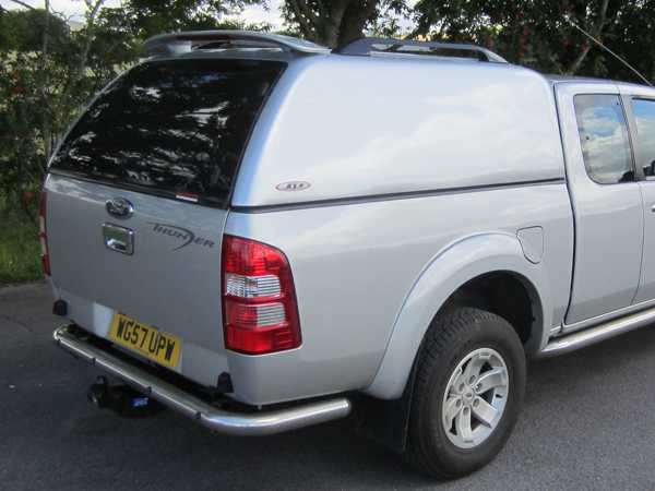 Ford Ranger MK4 (2009-2012) SJS Solid Sided Hardtop King / Extra Cab - Central Locking Optional Extra