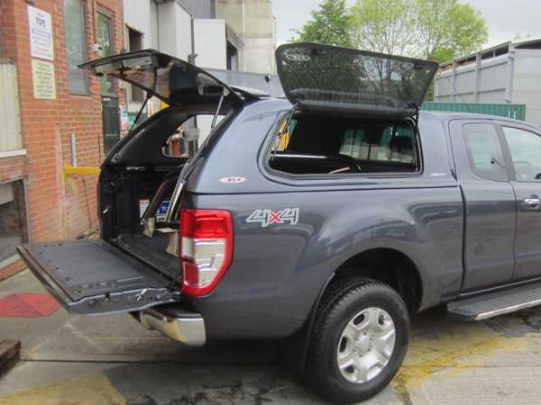 Ford Ranger MK5 (2012-2016) SJS Side Opening Hardtop Extra Cab  - Central Locking Optional Extra