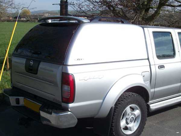 Nissan Navara D22 MK2 (2002-2005) SJS Solid Sided Hardtop Double Cab - Central Locking Optional Extra