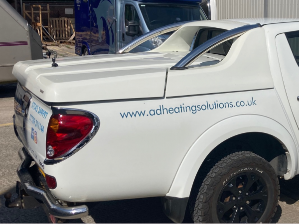 Used GRX Tonneau Covers With Sport Bar - Mitsubishi L200 LONG BED Double Cab - Polar White W32