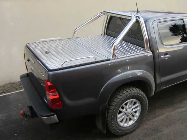 Toyota Hilux MK7 / Vigo (2008-2011) Aluminium Tonneau Covers With Sport Bar