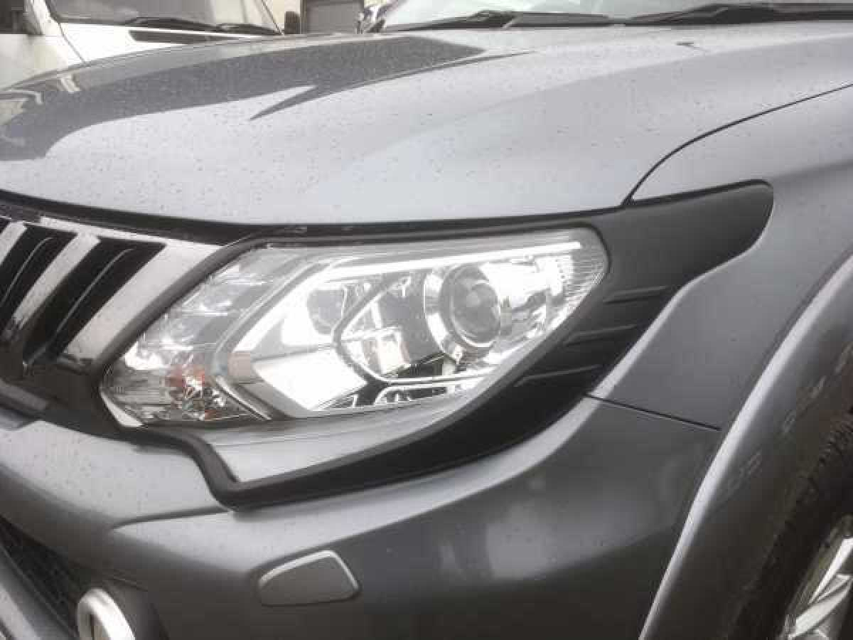 Fiat Fullback Headlight covers - BLACK Double Cab
