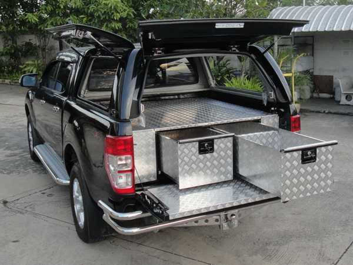 Ford Ranger MK6 (2016-ON) Chequer Plate Tray Bins