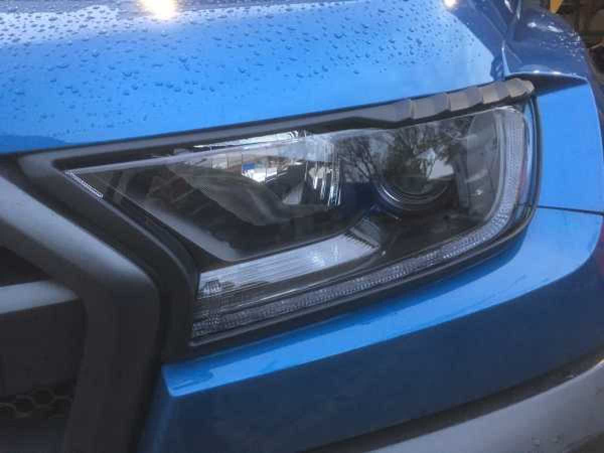 Ford Ranger MK6 (2016-ON) Headlight covers - BLACK Double Cab
