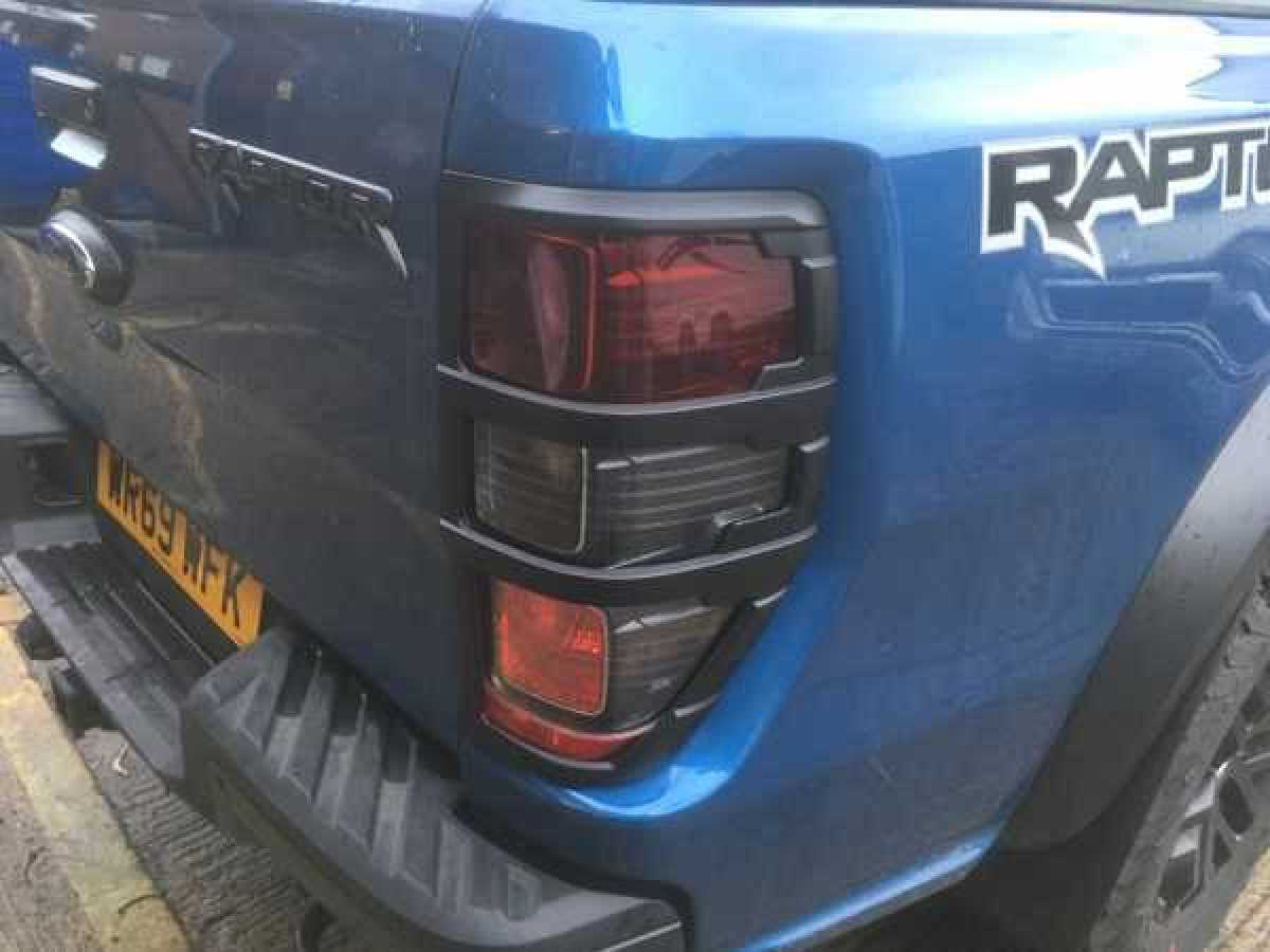 Ford Ranger T6 Taillight covers - BLACK Double Cab