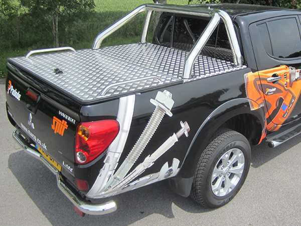 Mitsubishi L200 MK6 LB Series 4 (2009-2015) Aluminium Tonneau Covers With Sport Bar