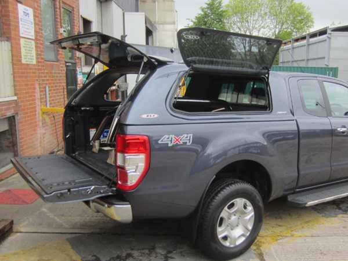 Nissan Navara D40 MK2 (2010-2016) SJS Side Opening Hardtop Extra Cab - Central Locking Optional Extra