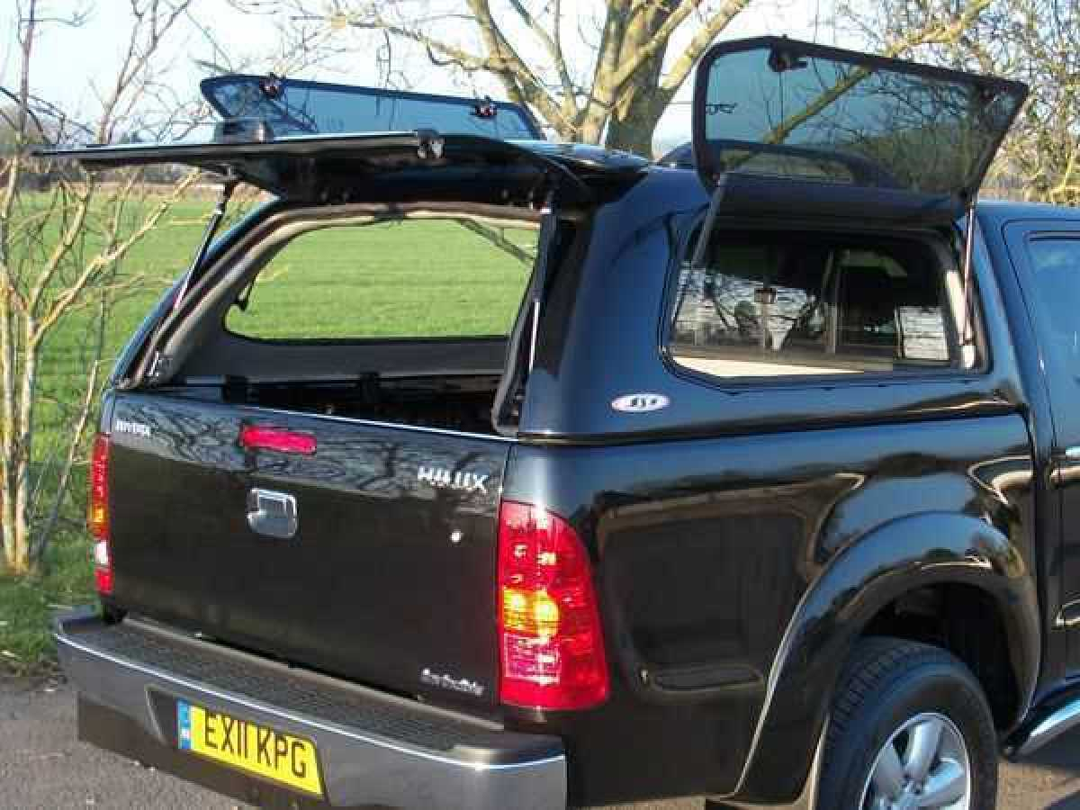 Nissan Navara D22 MK2 (2002-2005) SJS Side Opening Hardtop Double Cab - Central Locking Optional Extra