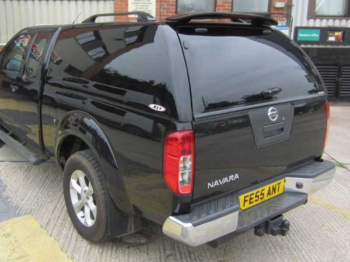 Nissan Navara D40 SJS Solid Sided - GN0 Metallic Black Hardtop King / Extra Cab