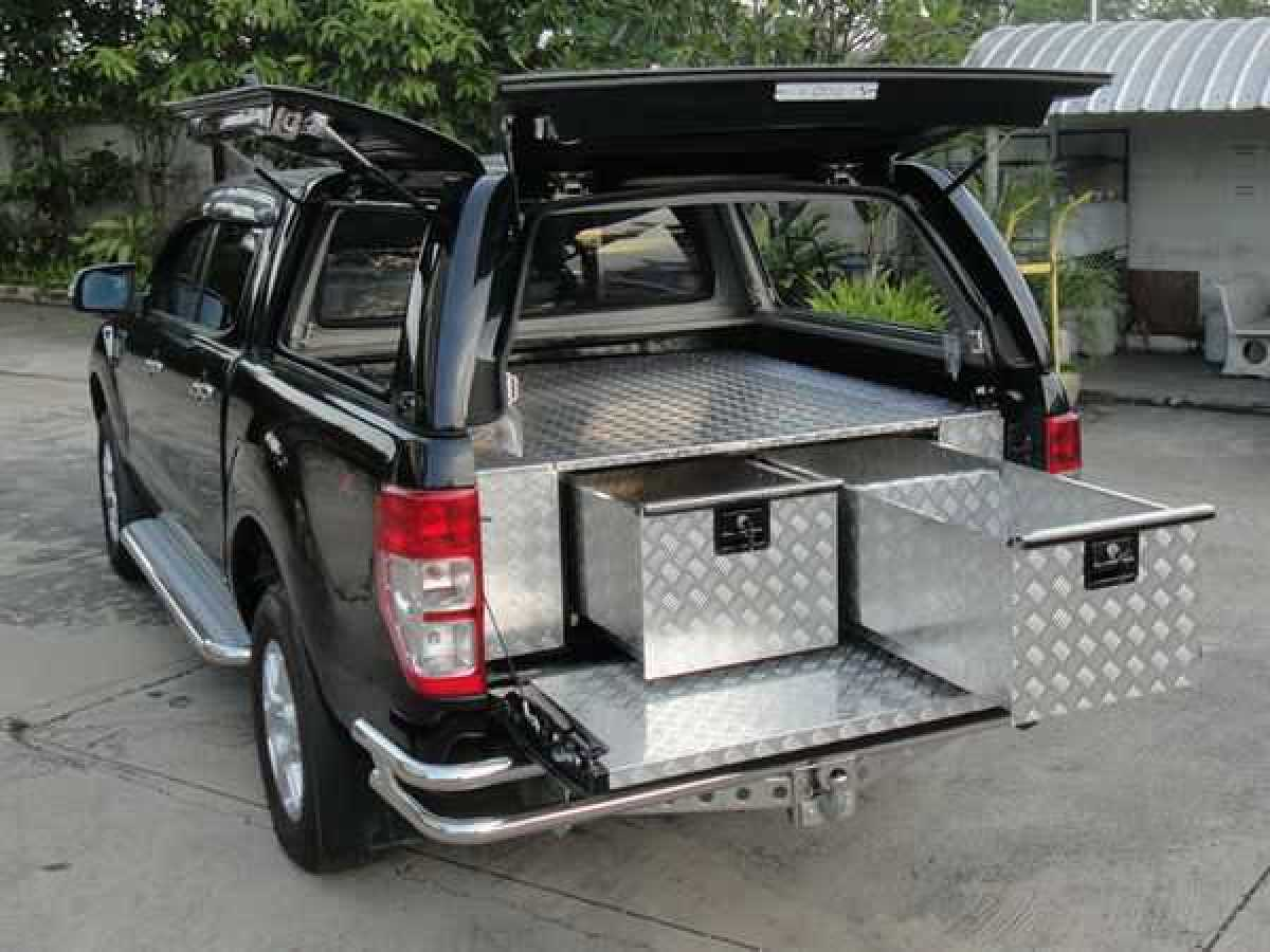 Toyota Hilux MK11 / Rocco ( 2020-ON) Chequer Plate Tray Bins