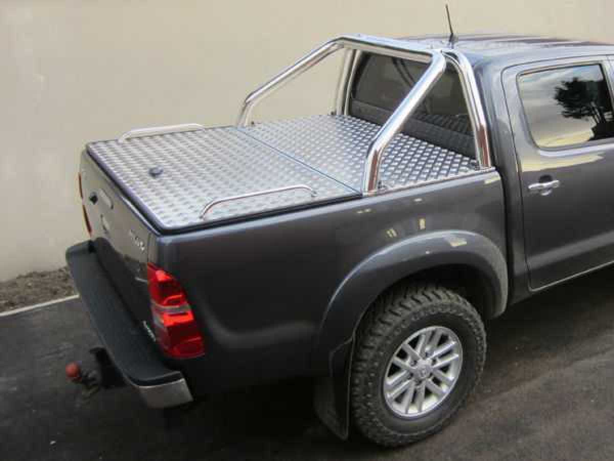 Toyota Hilux MK8 / Vigo (2011-2016) Aluminium Tonneau Covers With Sport Bar